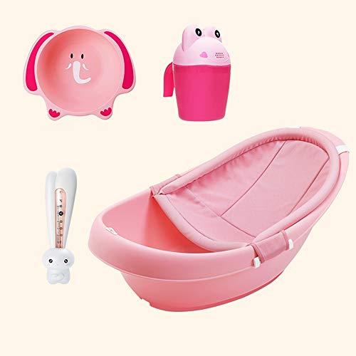 Vasca da Bagno per Bambini, Vasca da Bagno da Seduta, Prodotti da Bagno per Bambini (Color : Pink3)