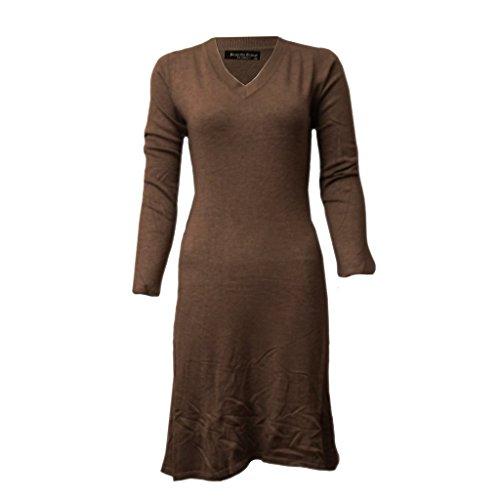 Waooh - V-Pullover Kleid Marcelle Braun