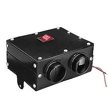GOZAR 12V 24V 300W Coche Calentador De Camión Calefactor Doble Agujero Calefacción Ventilador Ventana Desempañador -