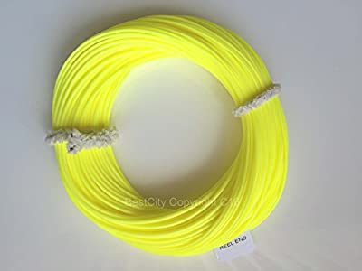 "Premier Quality AIRFLO WF7 TROUT /SEA TROUT Floating Fly Fishing Line ""Flouro Yellow"" UK by BestCity Tackle"