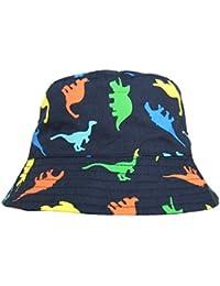 Sumolux Bonnet Chapeau de Soleil Chapeau de Plage Anti UV en Coton Motif de Cartoon Animal Bleu Mignon Pour Enfant Bebe Garcon Bébé Garçon 1-4 Ans en Printemps Eté