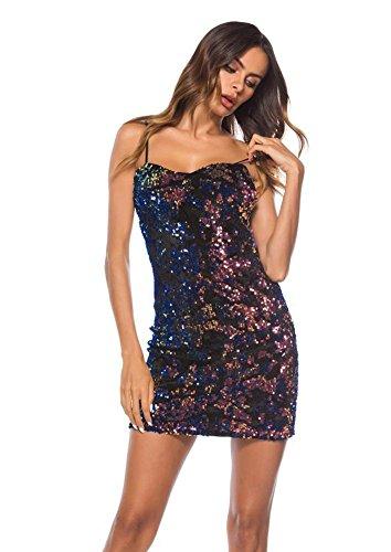 tten Schlinge Kleid Nachtclub Body Overall Catsuit , black , S (Pailletten-katze-anzug)
