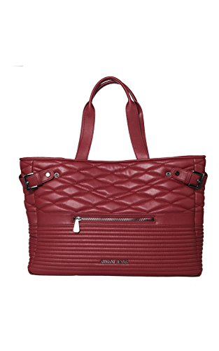 Armani Jeans Borsa Shopping Donna Pvc/Plastica Bordeaux