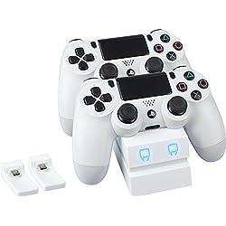 Estacion de carga para mandos Dualshock PS4 - Blanco