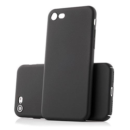 MC24 iPhone 7 / 8 Ultra Slim Handyhülle in schwarz / Schutzhülle / Handy-Schale Case Smartphone Cover | Anti-Kratzer & Anti-Fingerabdrücke | 100% passgenaue Hülle für Apple iPhone 7 / 8