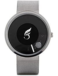 Madhav Fashion Attractive Black Dial Black Strap Stylist Creative Analog Watch For Men-58917-BLACKDIAL-BLACK