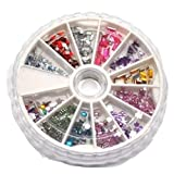 SAVANNAH CHARMS 5 Kits manucure/pédicure carroussels Mini Strass Pas Cher -NAIL01-