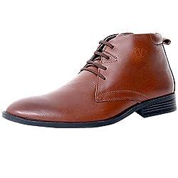 Valentino Genuine Leather Men AMAZONA75TAN Formal Shoes