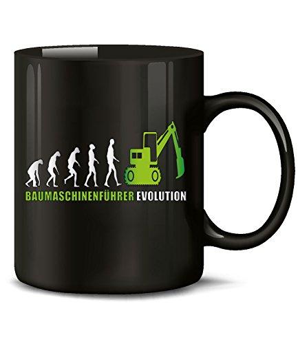 Golebros Baumaschinenführer Evolution 5899 Kaffeetasse (Schwarz-Grün)