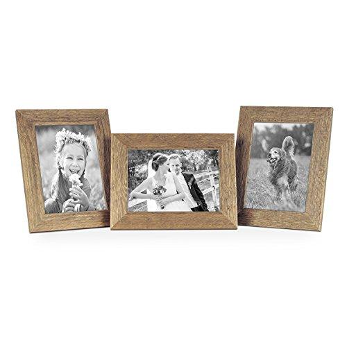 Set da 3 cornici per foto da 13x18 cm sabbia rustico rovere naturale