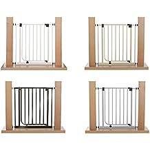 IMPAG ® Treppenschutzgitter Türschutzgitter EASY STEP passend für 62cm - 212cm | Höhe 77cm | ohne Bohren | einfache Montage | Tür-Gitter | Treppen-Gitter Baby Kleinkind Hund