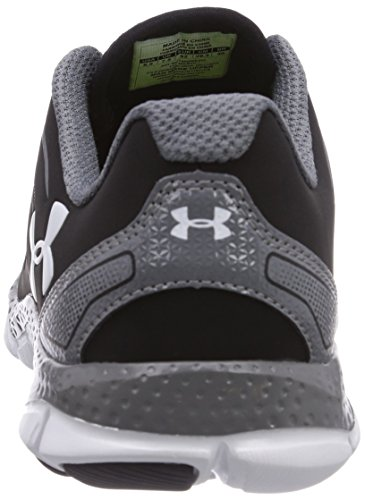 Under Armour Micro G Engage II, Chaussures de running homme Noir (Black/Graphite/White 002)