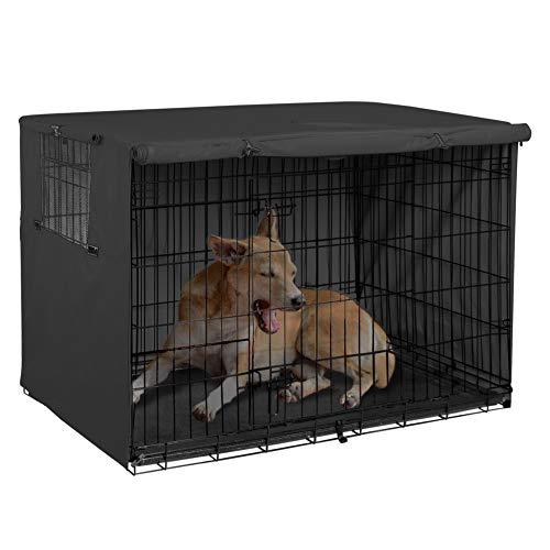 Explore Land Hundekäfig-Abdeckung, strapazierfähiges Polyester, universell passend für Hundekäfig mit Draht, 30 Inch, schwarz