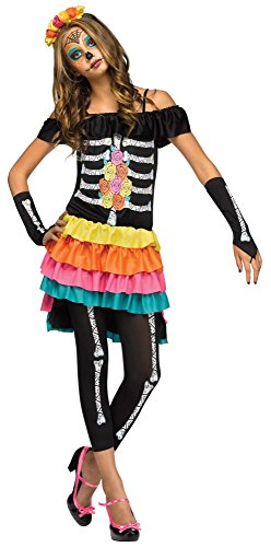 Fun World FW124083-J Teenagers Dia De Los Muertos Costume, Junior by Fun World