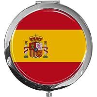 """metALUm - Extragroße Pillendose in runder Form""""Flagge Spanien"""" preisvergleich bei billige-tabletten.eu"""