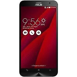 """Asus ZenFone 2 Smartphone, Schermo da 5.5"""" Full HD, Processore Quad Core 2,3 GHz, RAM 4 GB, 64 GB, 4G/LTE, Rosso"""