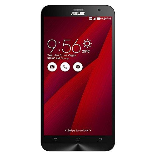 Asus ZenFone 2 Smartphone, Schermo da 5.5' Full HD, Processore Quad Core 2,3 GHz, RAM 4 GB, 64 GB, 4G/LTE, Rosso