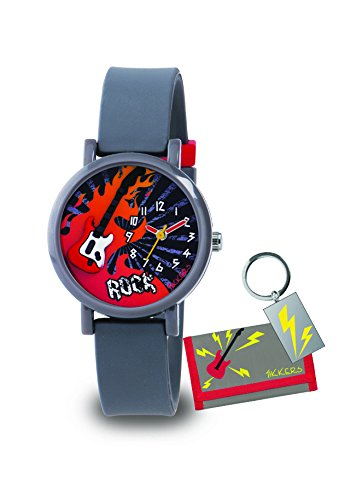 Tikkers-Boys-Quartz-Watch-with-Grey-Dial-Analogue-Display-and-Grey-Silicone-Strap-ATK1015