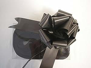 Fiocchi in raso nero da tirare,31mm,per decorazioni regali,bouquet di fiori,cestini,auto nuziali,arte (30 pezzi)