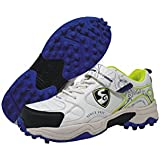 SG Century 2.0 Cricket Studs, Size 4 (White/Lime)