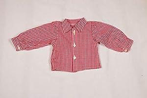 Camisa para muñecas Sturm 0924-3 de Color Rojo a Cuadros