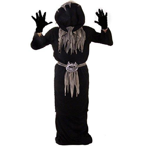 NEU MASTER OF SCHATTEN KINDER HALLOWEEN KOSTÜM KLEID OUTFIT - 4-6 Jahre (Kinder Schatten Kostüm)