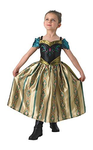 Rubie's Faschingskostüm, Offizielles Disney Frozen-Kostüm Anna, Krönungskleid,