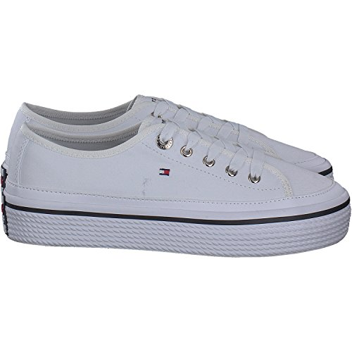 Baskets Tommy Hilfiger Corporate Flatform, Baskets Basses Athlétiques Blanches (blanc 100)