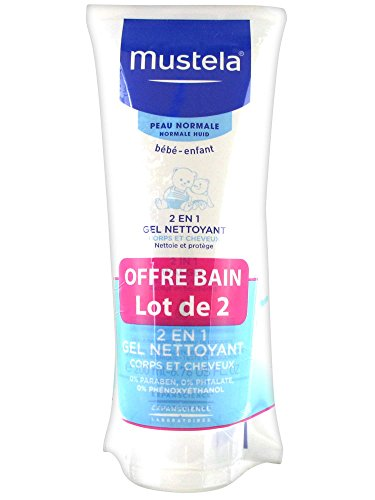 Mustela 2 in 1 Hair and Body Wash 2 x 200ml
