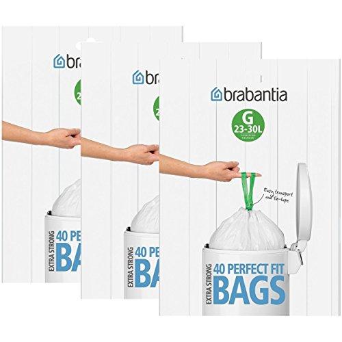 Brabantia - Lote bolsas basura 3 cajas 40 unidades