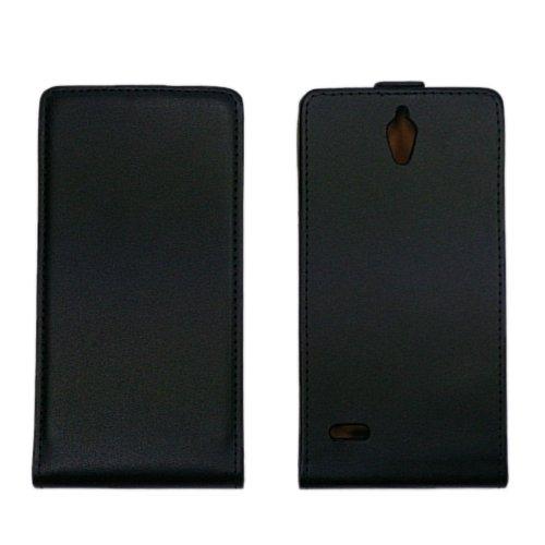 handy-point Flip Case Klapptasche Klapphülle Tasche Hülle Schale Schutzhülle Schutztasche Flipcase für Huawei Ascend G700, Schwarz