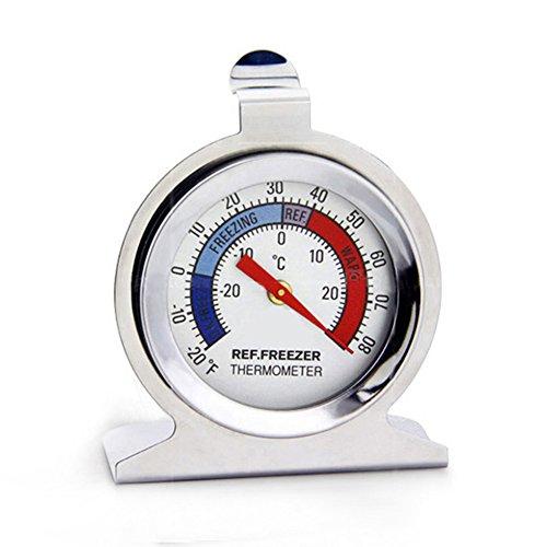 Mooyod Kühlschrank Gefrierschrank Thermometer Edelstahl Zifferblatt Typ Temperaturmesswerkzeug -