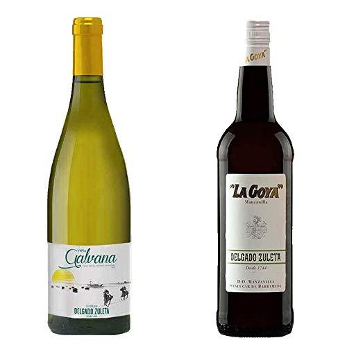 Viña Galbana Y Manzanilla La Goya - Vino De La Tierra De Cádiz Y D. O. Manzanilla De Sanlúcar De Barrameda - 2 Botellas De 750 Ml