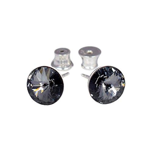 5f601113d694 Crystals   Stones 925 Plata Pendientes  Rivoli  Colore  Silver Night    Hermoso -