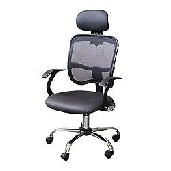 Bürostuhl Drehstuhl Chefsessel Computertischstuhl Schreibtischstuhl Schwarz mit Kopfschütze