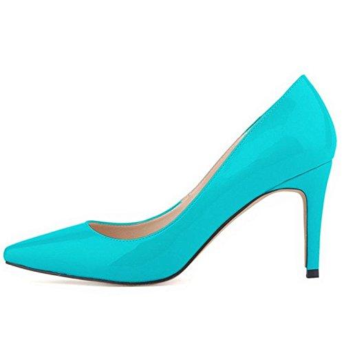 Femmes Pompes Talons hauts Fashion Pointed Toe Femmes Chaussures Talons Minces Pompes 10cm Talons hauts Chaussures Rouge Femme 4