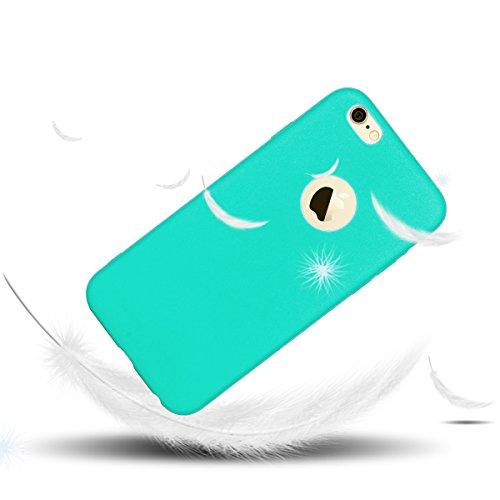 iPhone 6 Plus 6s Plus Hülle Blau TPU Silikon Handy Schutzhülle Handytasche Schutz Cover Case Schale Etui Weich Flexible Ultra Dünn Matt Kratzfeste Tasche Verschiedene Farben Grün
