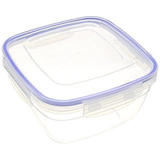 ALPFA Food Storage Box Square 1500ml, White, 25 x 25 x 15 cm