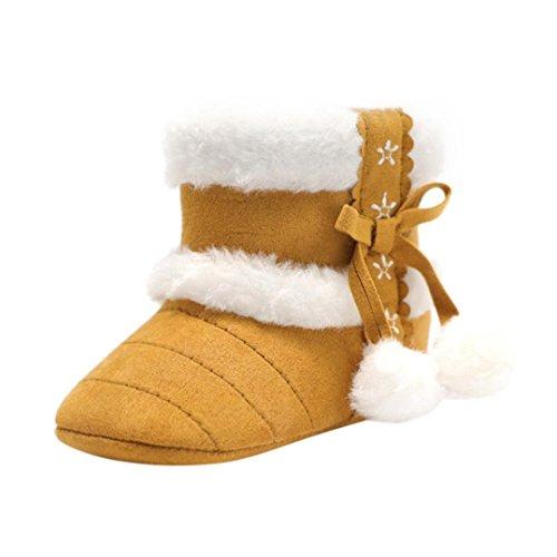 Ears Jungen Baby Schnee Boot SchuheToddler Baby Girl Boy Soft Hairball Booties Schneeschuhe Infant Kleinkind Erwärmung Krippe Schuhe (12, Khaki) Baby Girl Bootie