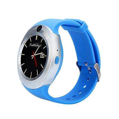 Fymia★★✿✿2018 Bluetooth Smart Watch Telefon Mate Voller Runde Bildschirm SIM Kamera für Android Watch