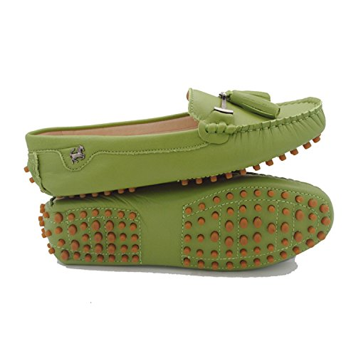 Minitoo , Sandales Compensées femme Leather-Olive Green