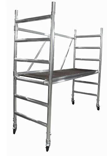 Rollgerüst, Fahrgerüst, Zimmerfahrgerüst Basic 75 bis 3,0 m Arbeitshöhe, Plattform ohne Luke