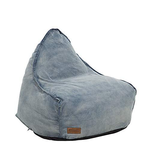 Beliani Sitzsack Jeans Drop