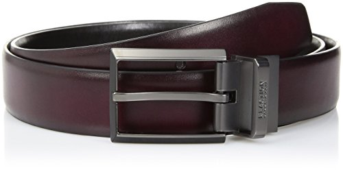 Kenneth Cole REACTION Men's Reversible Dress Belt, Burgundy/Black, 38