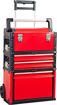 BIG RED TRJF-C305ABD Torin Garage Workshop Organizer: Portable Steel and Plastic Stackable Rolling Upright Tro