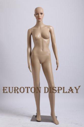 Tonhan (SF-2 eine Schaufensterpuppe weiblich mit 2 Perücken gratis. Beweglich. Frau in Hautfarbe