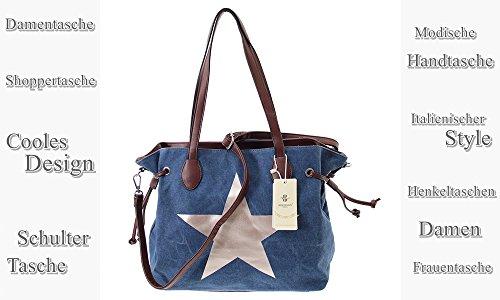 XXL-TASCHE Raumwunder die perfekte City Damen-Umhängetasche Schulter Tasche Messenger Bag Neu weiblich lässige Canvas Tasche Henkeltasche Beuteltasche Tragetasche modisch neu (Blue) Blue