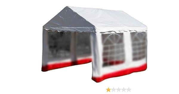 Ersatzdach Dachplane für Partyzelt Pavillon Zelt Festzelt PVC 3x4 m weiß 400g//m²