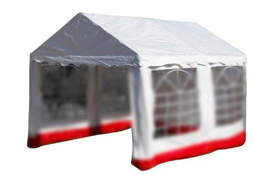 Nexos Pavillondach/Ersatzdach/Wechseldach/Dachbezug für Partyzelt Festzelt Zelt 3x4m - Dachplane 400g/m² PVC wasserdicht - Farbe: weiß