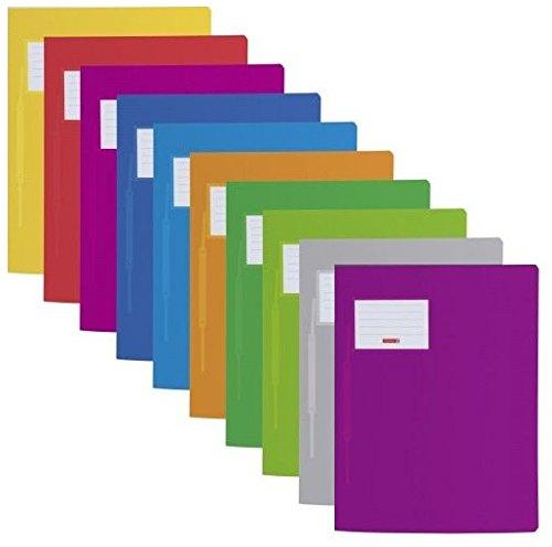 10 Farben Schnellhefter Fact! PP, 24 x 31 Centimeter für A4 (10-fach Packung, Sortiert)